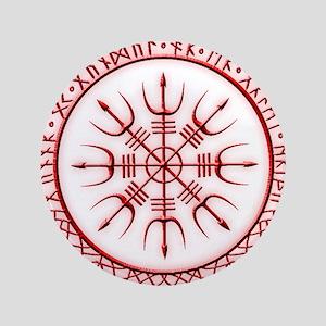 "Aegishjalmur: Viking Protection Rune 3.5"" Button"