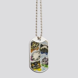 Vintage Kittens in Bow Ties Dog Tags