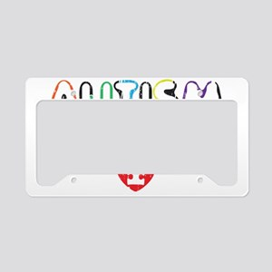 Autism awereness month License Plate Holder