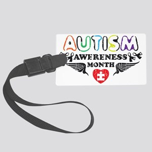 Autism awereness month Large Luggage Tag