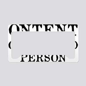 contentsPerson1A License Plate Holder