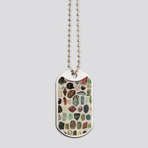 Vintage Geology Rocks Gemstones Dog Tags