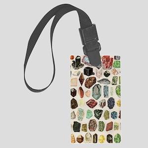 Vintage Geology Rocks Gemstones Large Luggage Tag
