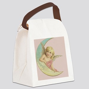 Vintage Angel Moon Canvas Lunch Bag