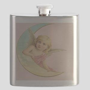 Vintage Angel Moon Flask