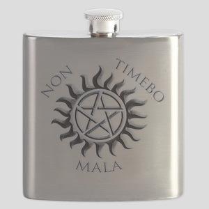 Supernatural Protective Black Pentagram Flask
