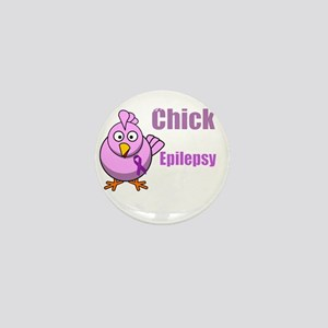This Chick Supports Epilepsy Awareness Mini Button
