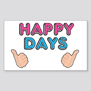 Happy days Sticker (Rectangle)