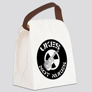 Ukes Not Nukes Canvas Lunch Bag