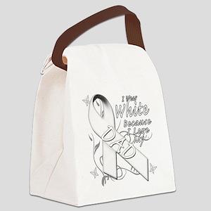 I Wear White Because I Love My Da Canvas Lunch Bag