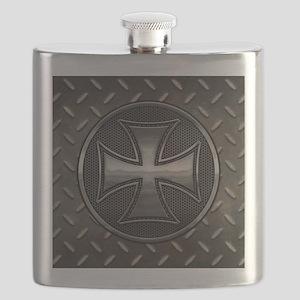 grid-iron-malt-BUT Flask