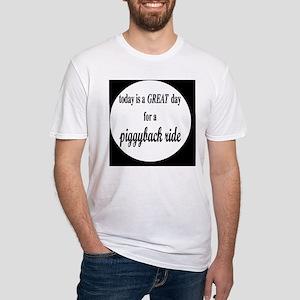 piggybackbutton Fitted T-Shirt