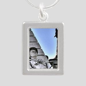 on-guard Silver Portrait Necklace