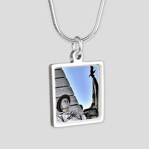 on-guard Silver Square Necklace