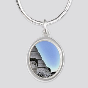 on-guard Silver Oval Necklace