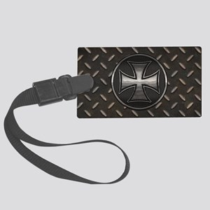 grid-iron-malt-OV Large Luggage Tag