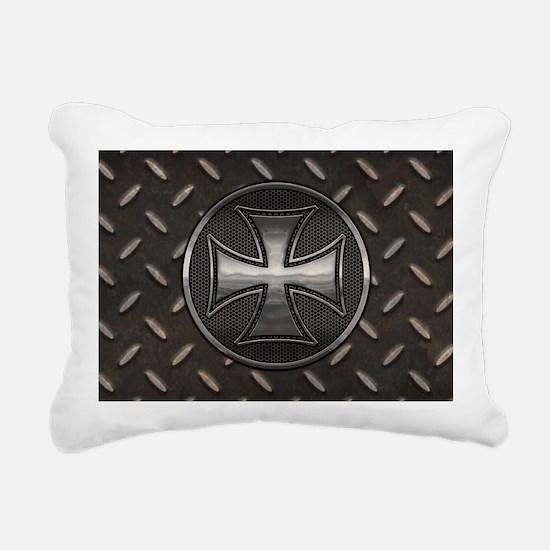 grid-iron-malt-OV Rectangular Canvas Pillow