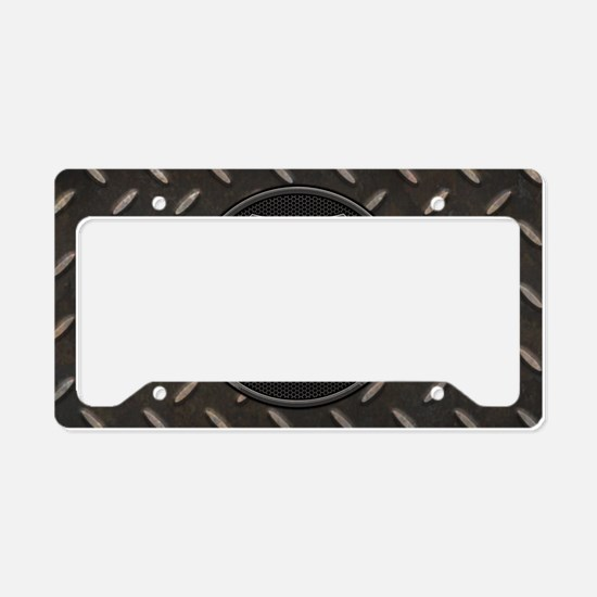 grid-iron-malt-OV License Plate Holder