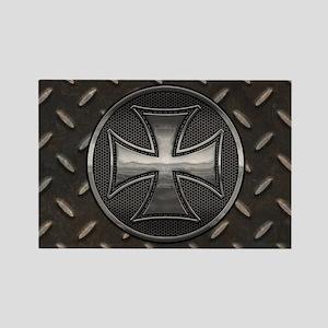 grid-iron-malt-OV Rectangle Magnet