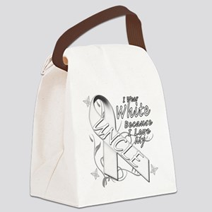 I Wear White Because I Love My Un Canvas Lunch Bag