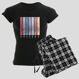 Collage Colour Women's Dark Pajamas