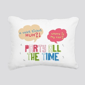Collage Party all the Ti Rectangular Canvas Pillow