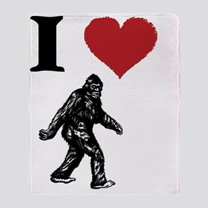 I LOVE SASQUATCH BIGFOOT T SHIRT Throw Blanket