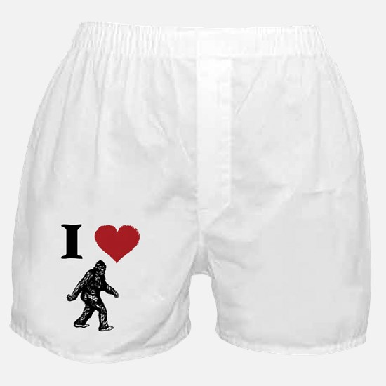 I LOVE SASQUATCH BIGFOOT T SHIRT Boxer Shorts