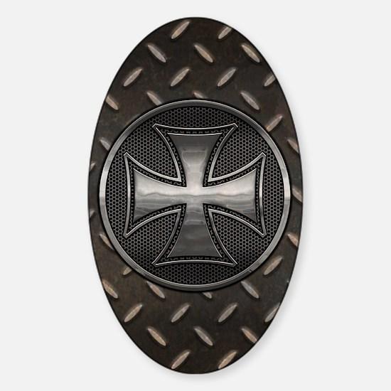 grid-iron-malt-CRD Sticker (Oval)