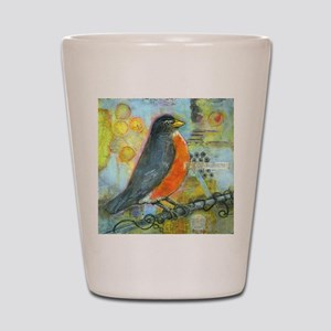 Red Robin Bird Shot Glass