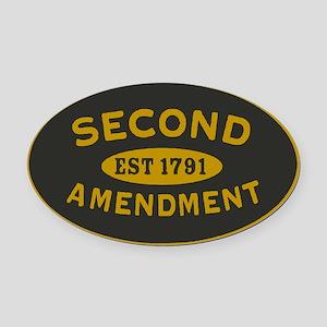Second Amendment Sticker Oval Car Magnet
