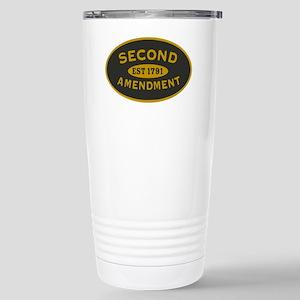 Second Amendment Sticke Stainless Steel Travel Mug