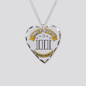 Three Percenter Necklace Heart Charm