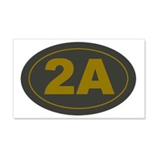 2A Oval_Dark Olive/HE Yellow Wall Decal