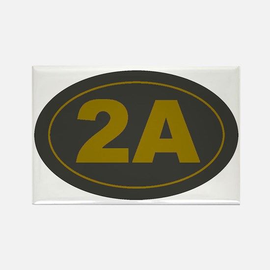 2A Oval_Dark Olive/HE Yellow Rectangle Magnet