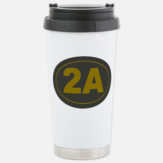 2A Oval_Dark Olive/HE Y Stainless Steel Travel Mug
