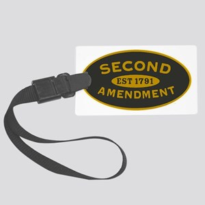 Second Amendment Oval_patch Large Luggage Tag