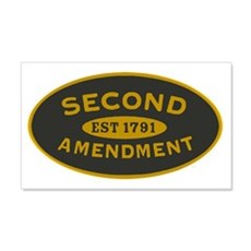 Second Amendment Oval_patch Wall Decal