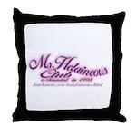MsHelaineous Club Throw Pillow