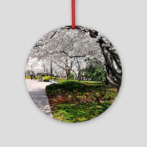 Cherry Blossoms 10X9 Round Ornament