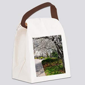 Cherry Blossoms 10X9 Canvas Lunch Bag