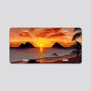 Morning Stretch Aluminum License Plate