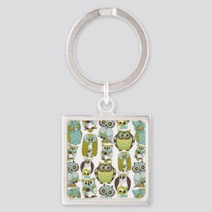 Give A Hoot Square Keychain