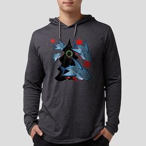 Shark Attack Mens Hooded Shirt