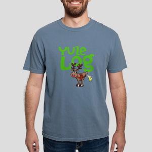 Yule Log Mens Comfort Colors Shirt