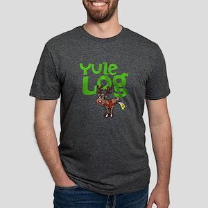 Yule Log Mens Tri-blend T-Shirt