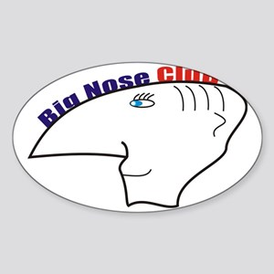 big nouse club Sticker (Oval)