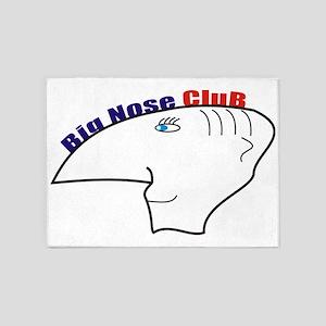 big nouse club 5'x7'Area Rug