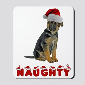 Naughty German Shep... Mousepad
