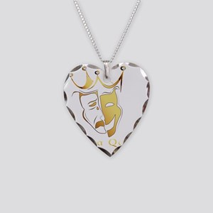 Drama Queen Necklace Heart Charm